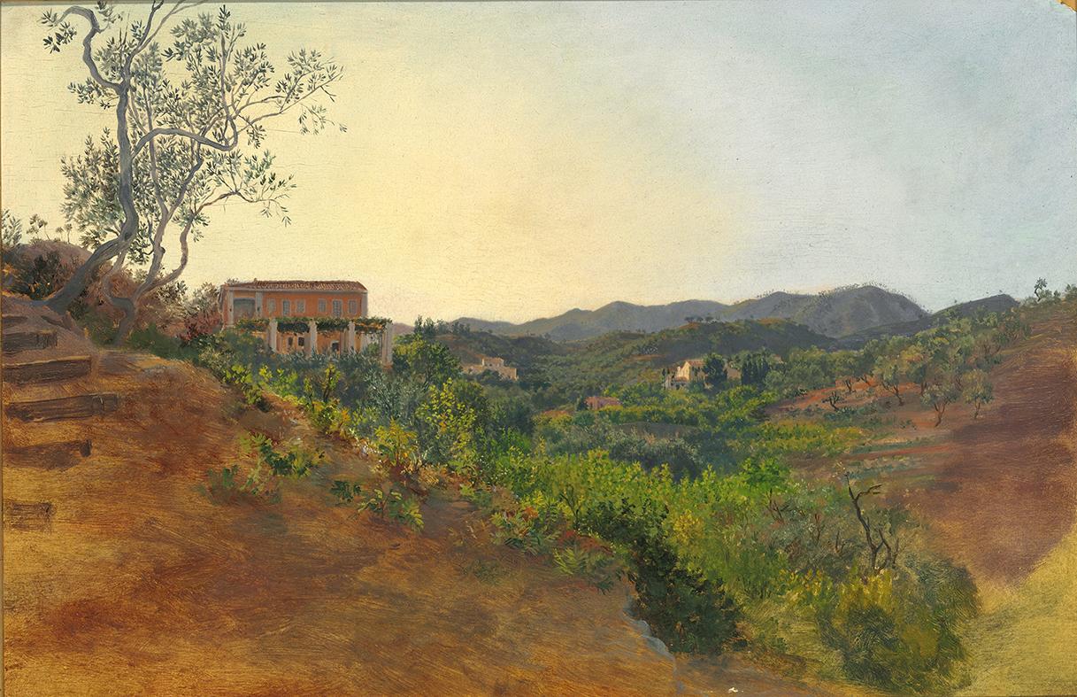 Niels Emil Severin Holm Sicilian mountains Italy – James Bauerle – Danish Fine Art
